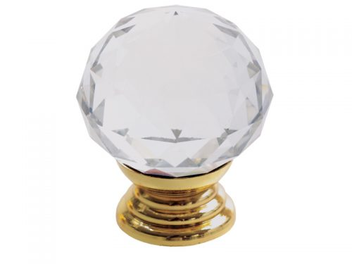 CRYSTAL KNOB 34mm PB - ROUND