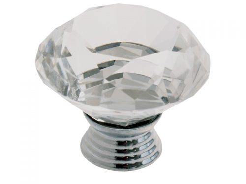 CRYSTAL KNOB - TULIP 40*38mm CP