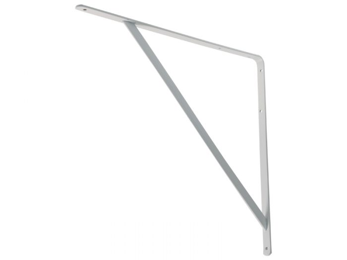 L-SHELF BRACKET - H/D WHITE 450*400*5mm