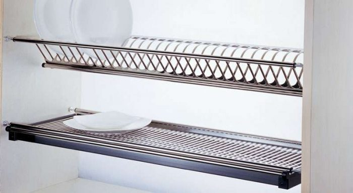 DISHRACK - SS - DOUBLE LAYER 600mm