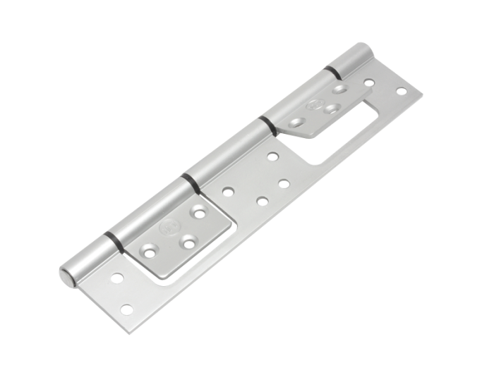 HINGE - DBL ALUM S/L HINGE 46mm SILVER
