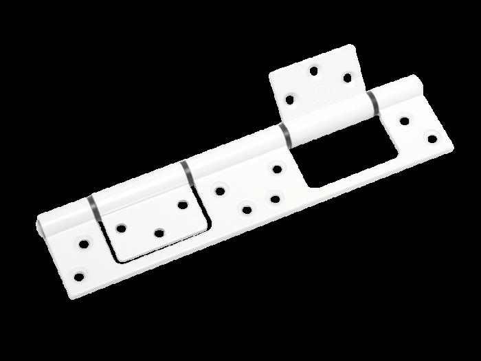 HINGE - DBL ALUM S/L 46mm WHITE