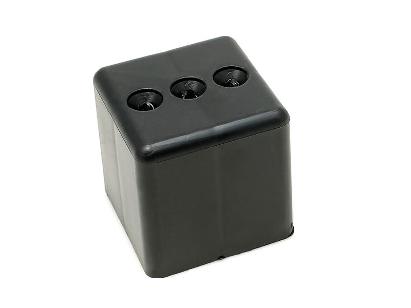SOFA LEG - BUN FEET 60X60mm BLACK