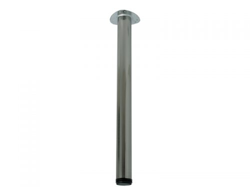 TABLE LEG 60 X 870 SATIN NICKEL