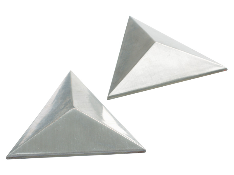 MIRROR NAIL J05A SN 50mm TRIANGULAR (PAIR)