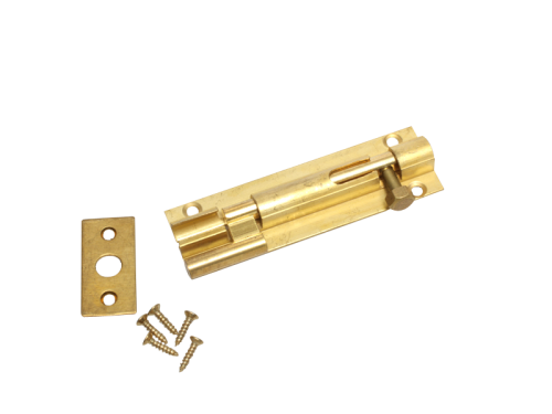 BARREL BOLT - CRANK - 75mm BRASS