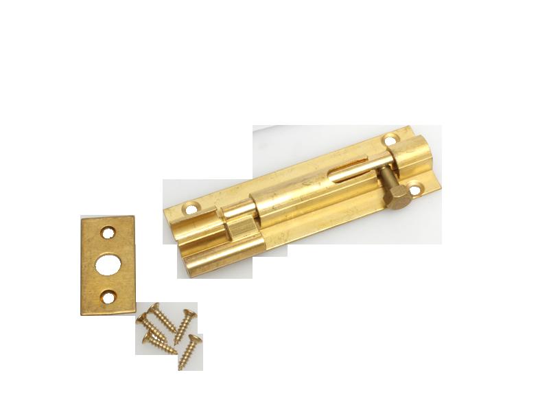 BARREL BOLT - CRANK - 75mm BRASS