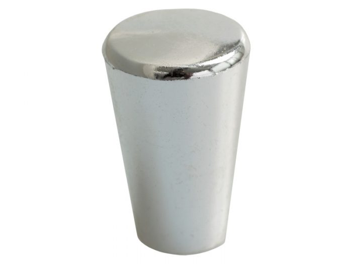 PLASTIC - TAPERED KNOB - CHROME PLATED