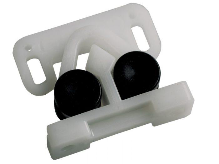 PLASTIC - GRIPPER CATCH - WHITE