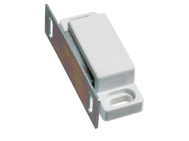 DOOR CATCH - MAGNETIC - WHITE