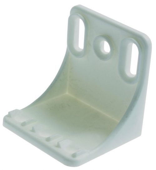 PLASTIC-SHELF SUPPORT-WHITE-LRG-5000pcs