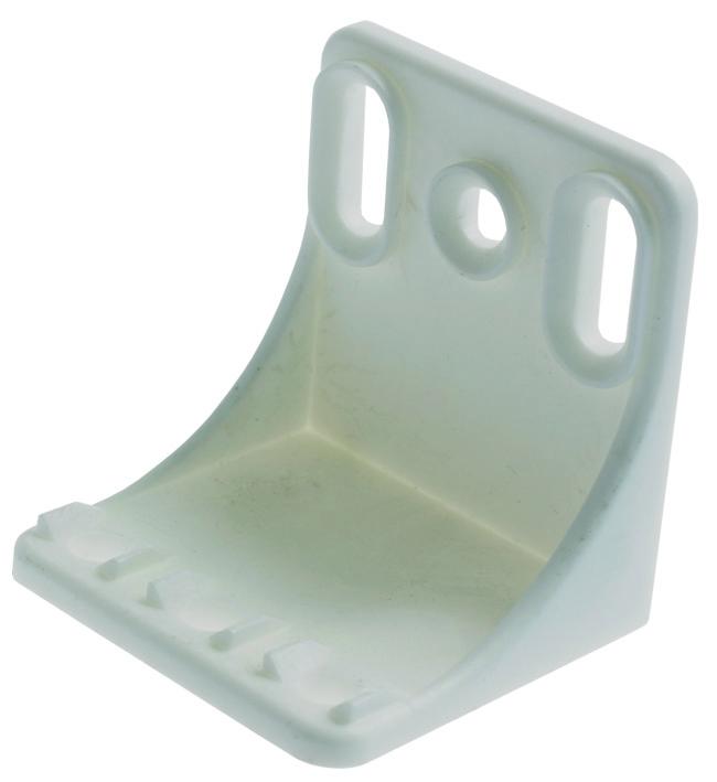 PLASTIC-SHELF SUPPORT-WHITE-LRG-5000pcs