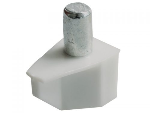 PLASTIC - SHELF STUD WHITE