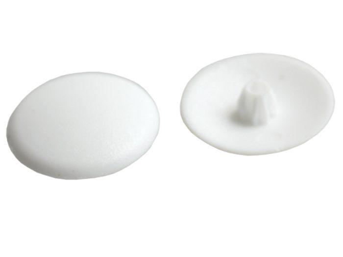 PLASTIC -SCREW CAPS 20's WHITE
