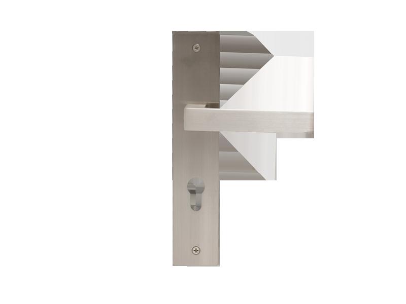 LEVER DOOR HND-Z5-9373 BN CYLINDER SQR