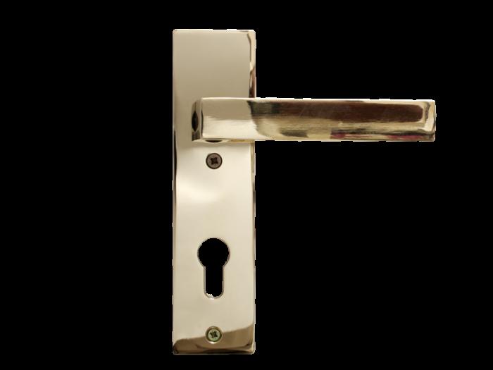 LEVER DOOR HND - Z5-8173 PVD CYLINDER SQR