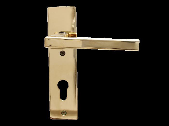 LEVER DOOR HND - Z5-8176 - PVD CYLND-SQR