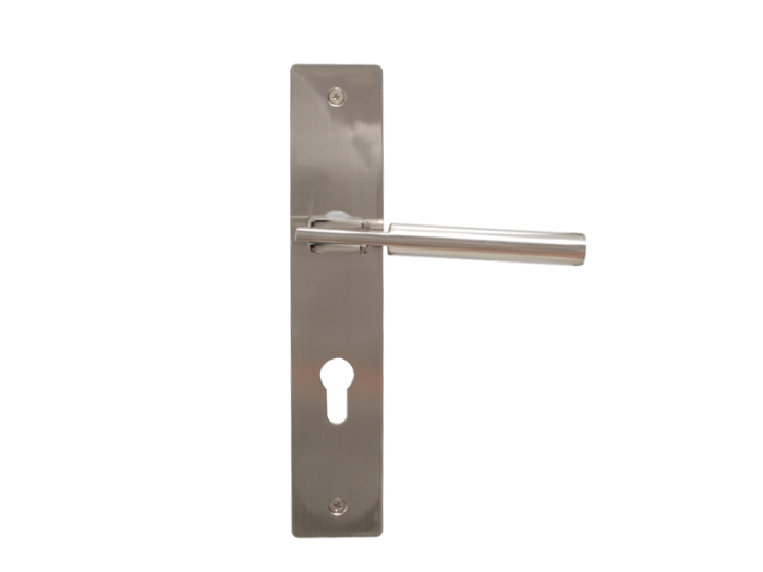 LEVER DOOR HND-Z5-9338 BN CYLINDER