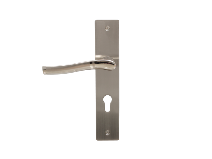LEVER DOOR HND-Z5-9334 BN CYLINDER SQR