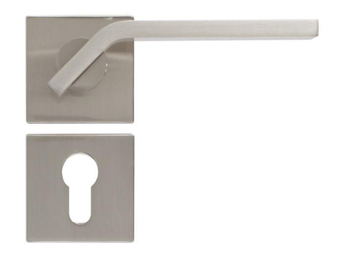 LEVER DOOR HND-Z5-4912 BN CYLINDER