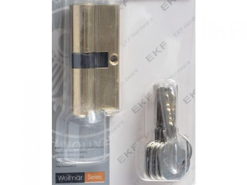 CYLINDER-Z5-70mm- PB-DBL SIDE-4COM KEYS