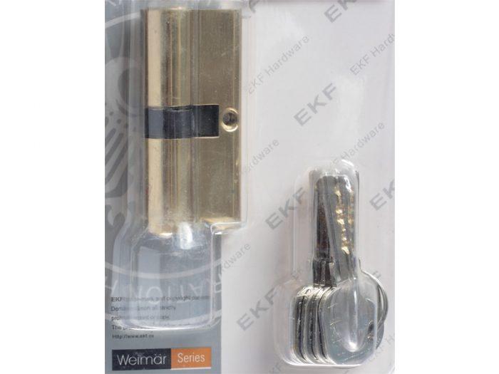 CYLINDER-Z5-70mm- PB-DBL SIDE-4COM KEYS