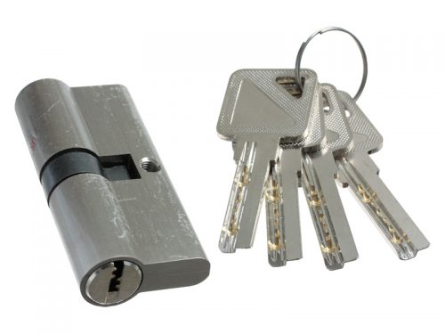 CYLINDER LOCK - Z5-70mm - BN - 4 COMP KEYS