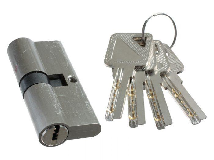 CYLINDER LOCK - Z5-70mm - BN - 4 COMP KEYS