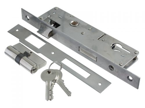 LATCHLOCK S/S 35mm BACKSET WITH CYLINDER
