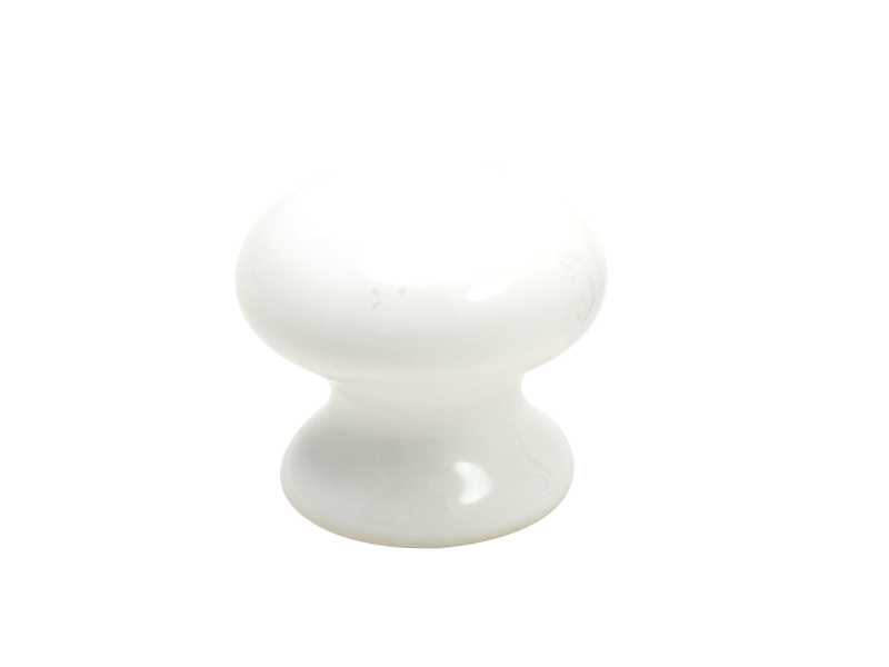 KNOB - PORCELAIN 32mm WHITE