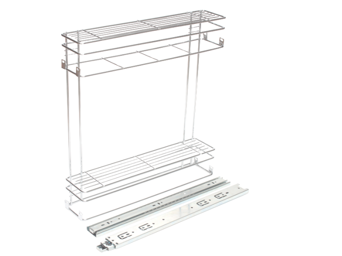 BASKETS-PULL OUT 2 TIER 150mm CP SIDE MT