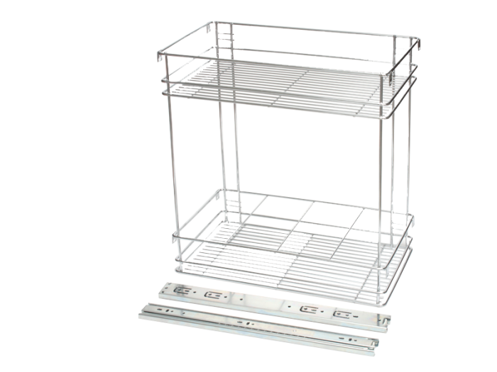 BASKETS- 2 TIER PULL OUT - 300mm-SIDE MT CP